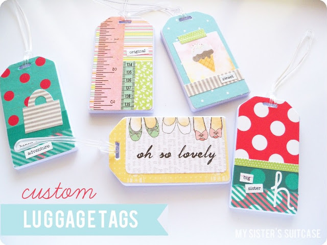 custom mod podge luggage tags