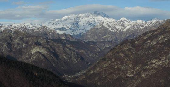 Il massiccio del Monte Rosa visto dall'Alpe di Mera - Scopello, Piemonte