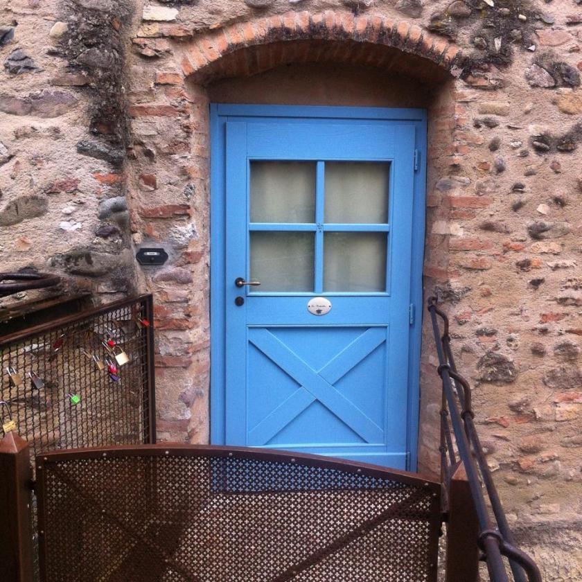 Porticine colorate a Borghetto sul Mincio