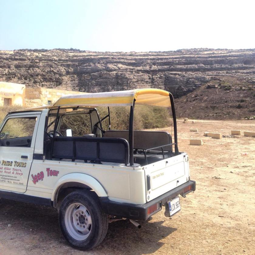 Jeep safari in Gozo
